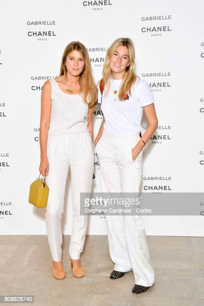Monica Ainley and Camille Charriere attends the launch party for Chanel's new perfume 'Gabrielle' as part of Paris Fashion Week on July 4 2017 in...
