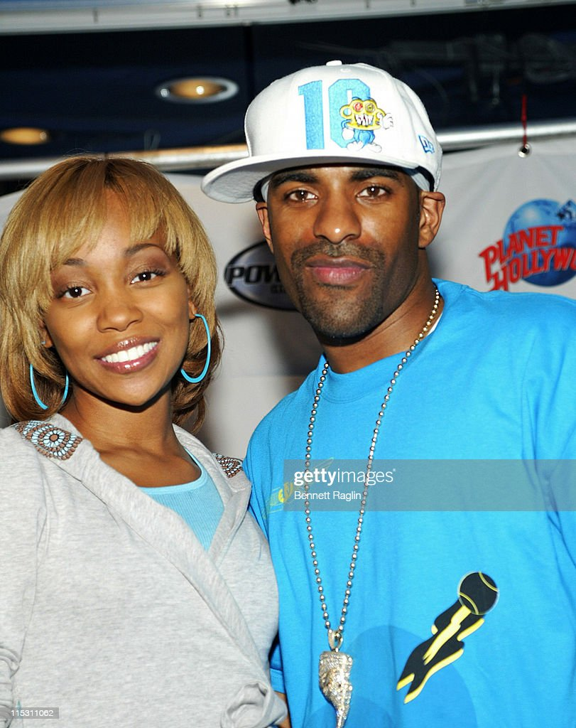Monica and DJ Clue during Power 1051 Radio Live Broadcast with Monica at Planet Hollywood August 17 2006 at Planet Hollywood in New York City New...