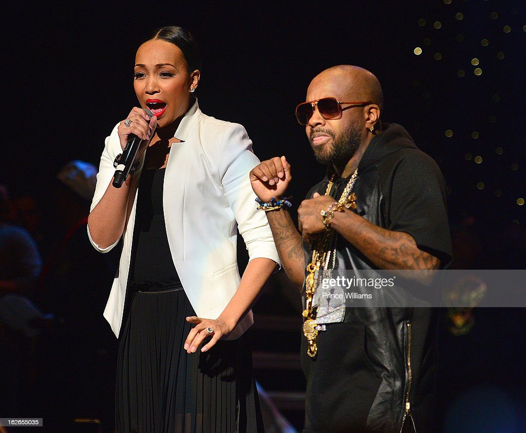 Monica and Jermain Dupri perform at the So So Def 20th anniversary concert at the Fox Theater on February 23, 2013 in Atlanta, Georgia.