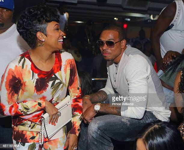 Monica and Shannon Brown attend a party at Compound on June 14 2014 in Atlanta Georgia