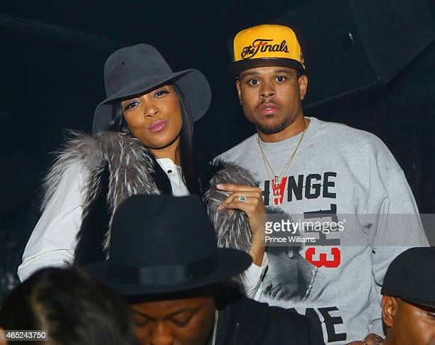 Monica and Shannon Brown attend Compound on February 21 2015 in Atlanta Georgia