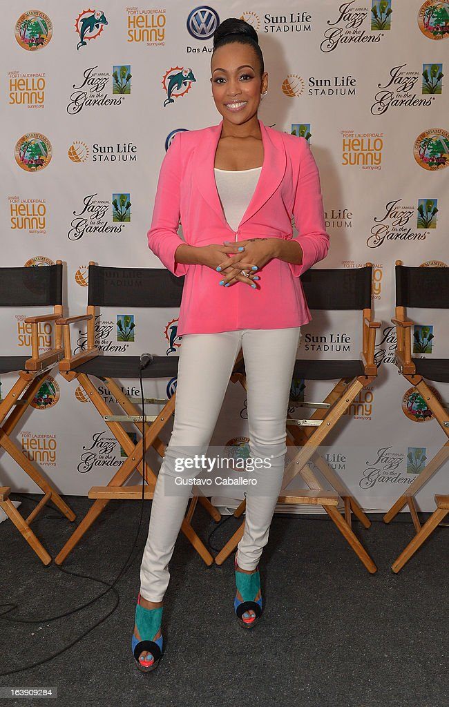 Monica attends the 8th Annual Jazz in the Gardens Day 2 at Sun Life Stadium presented by the City of Miami Gardens on March 17, 2013 in Miami Gardens, Florida.