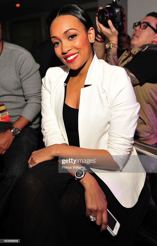 Monica attends the So So Def anniversary party hosted by Jay Z at Compound on February 23, 2013 in Atlanta, Georgia.
