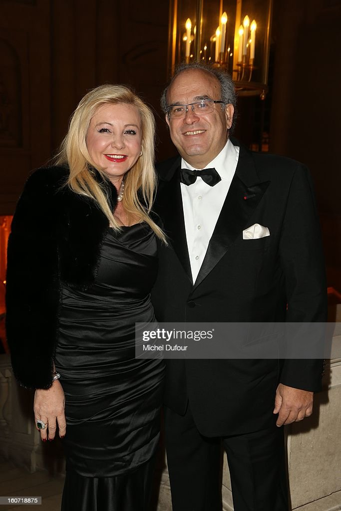 Monica Baccardi and David Khayat attend the David Khayat Association 'AVEC' Gala Dinner at Chateau de Versailles on February 4, 2013 in Versailles, France.