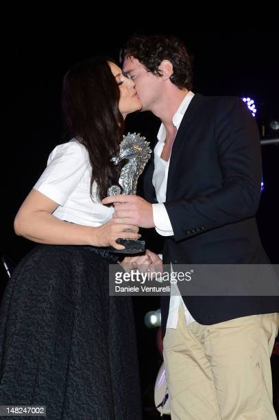 Monica Bellucci and Benjamin Walker attend Day 5 of the 2012 Ischia Global Fest on July 12 2012 in Ischia Italy