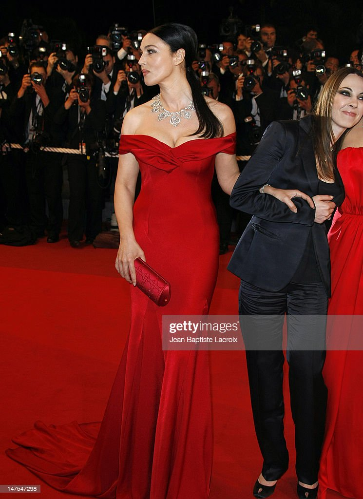<a gi-track='captionPersonalityLinkClicked' href=/galleries/search?phrase=Monica+Bellucci&family=editorial&specificpeople=204777 ng-click='$event.stopPropagation()'>Monica Bellucci</a> and Marina De Van attend the 'Don't Look Back' Premiere at the Grand Theatre Lumiere during the 62nd Annual Cannes Film Festival on May 16, 2009 in Cannes, France.