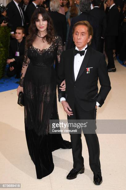 Monica Bellucci and Valentino attend 'Rei Kawakubo/Comme des Garcons Art Of The InBetween' Costume Institute Gala Arrivals at Metropolitan Museum of...