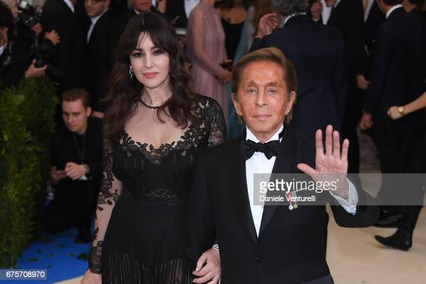 Monica Bellucci and Valentino Caravani attend 'Rei Kawakubo/Comme des Garcons Art Of The InBetween' Costume Institute Gala Arrivals at Metropolitan...