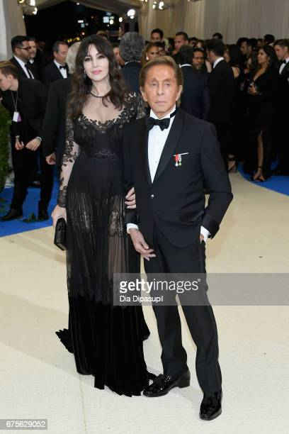 Monica Bellucci and Valentino Garavani attend the 'Rei Kawakubo/Comme des Garcons Art Of The InBetween' Costume Institute Gala at Metropolitan Museum...