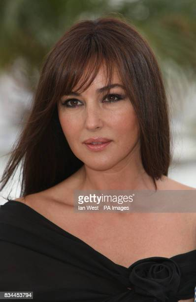 Monica Bellucci arrives at a photocall for her new film An Italian History during the 61st Cannes Film Festival at the Palais de Festival in Cannes...