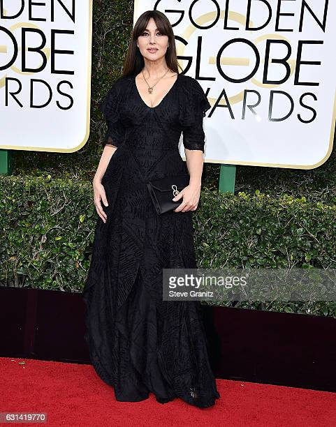 Monica Bellucci arrives at the 74th Annual Golden Globe Awards at The Beverly Hilton Hotel on January 8 2017 in Beverly Hills California