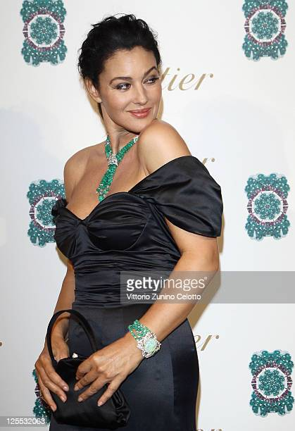 Monica Bellucci arrives at the new High Jewellery Collection 'Sortilege de Cartier' launch at Villa Aurelia on September 17 2011 in Rome Italy