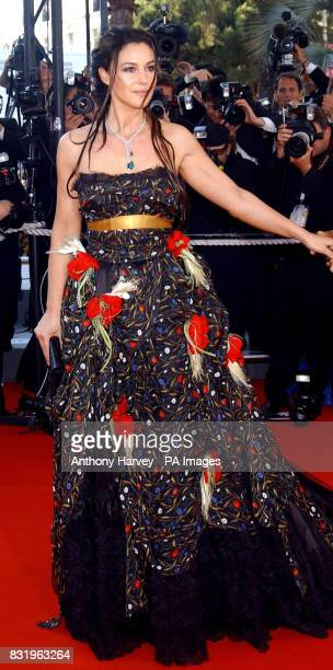 Monica Bellucci arrives for the premiere of Marie Antoinette at the Palais des Festival during the 59th Cannes film Festival in France