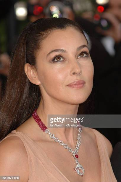 Monica Bellucci arrives for the premiere of Transylvania the closing film at the 59th Cannes Film Festival at the Palais des Festival Cannes France