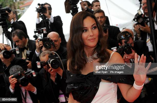 Monica Bellucci arrives for the screening of 'Le Silence de Lorna' during the 61st Cannes Film Festival in Cannes France