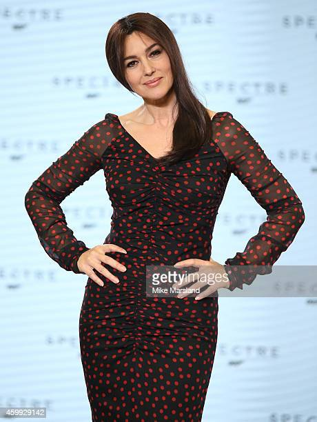 Monica Bellucci attends a photocall for Bond 24 at Pinewood Studios on December 4 2014 in Iver Heath England