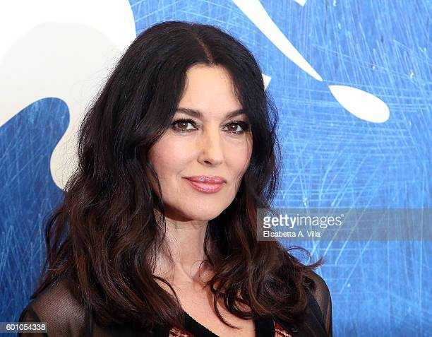 Monica Bellucci attends a photocall for 'On The Milky Road' during the 73rd Venice Film Festival at Palazzo del Casino on September 9 2016 in Venice...