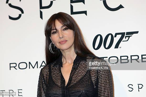 Monica Bellucci attends a red carpet for 'Spectre' on October 27 2015 in Rome Italy