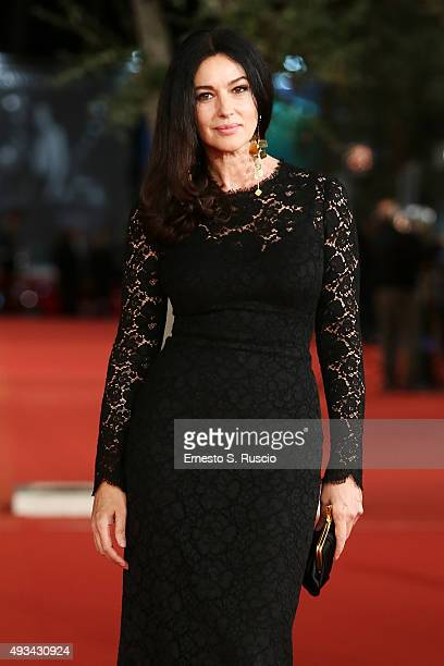 Monica Bellucci attends a red carpet for 'VilleMarie' during the 10th Rome Film Fest on October 20 2015 in Rome Italy
