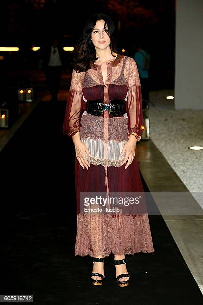 Monica Bellucci attends 'Francesco Escalar Glamour 'n Soul' opening at Museo Maxxi on September 15 2016 in Rome Italy