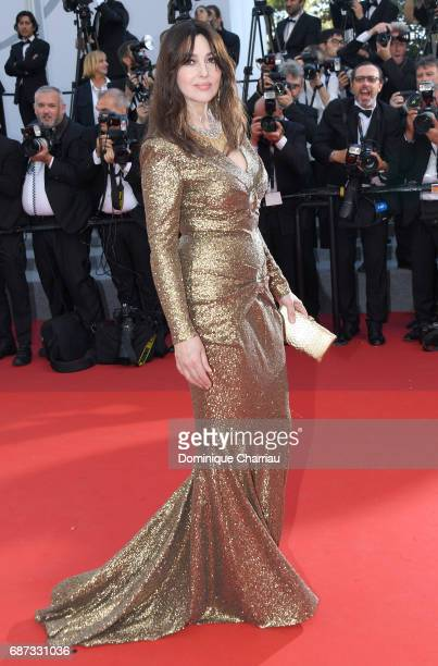 Monica Bellucci attends the 70th Anniversary of the 70th annual Cannes Film Festival at Palais des Festivals on May 23 2017 in Cannes France