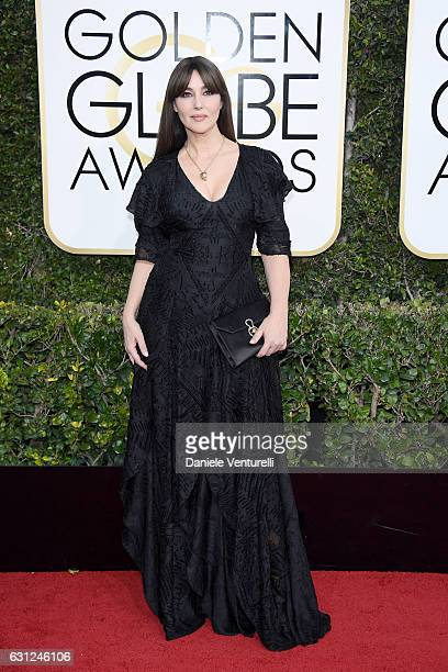 Monica Bellucci attends the 74th Annual Golden Globe Awards at The Beverly Hilton Hotel on January 8 2017 in Beverly Hills California
