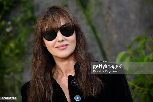 Monica Bellucci attends the Chanel show as part of the Paris Fashion Week Womenswear Spring/Summer 2018 on October 3 2017 in Paris France