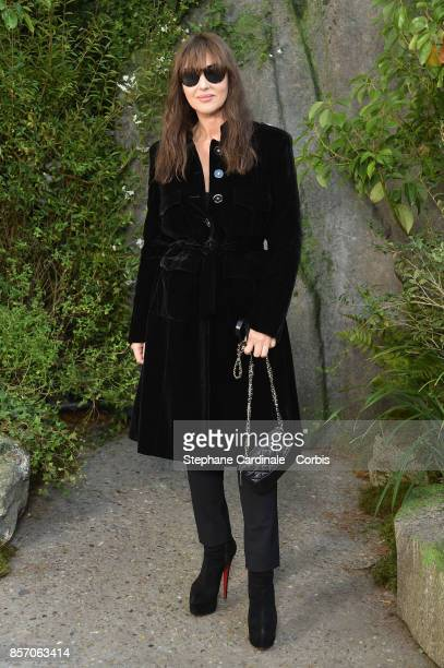 Monica Bellucci attends the Chanel show as part of the Paris Fashion Week Womenswear Spring/Summer 2018 at on October 3 2017 in Paris France