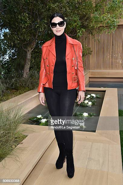 Monica Bellucci attends the Chanel Spring Summer 2016 show as part of Paris Fashion Week on January 26 2016 in Paris France