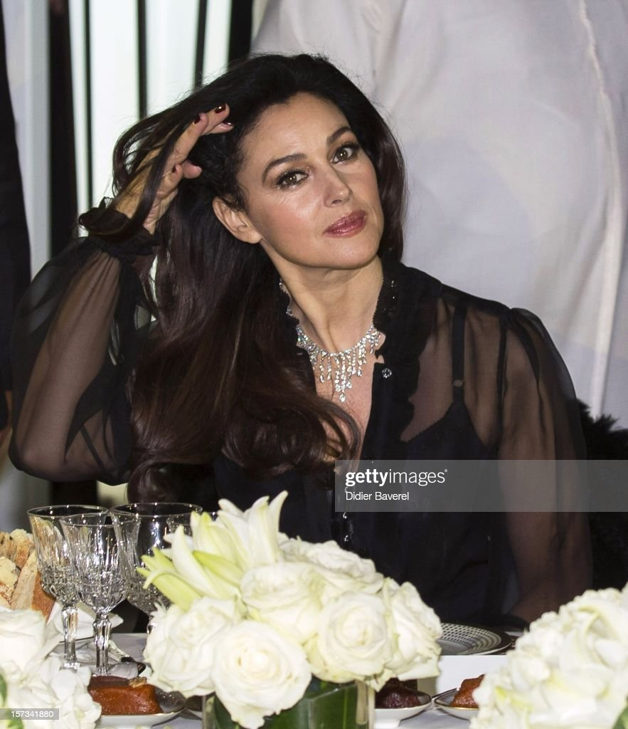 Monica Bellucci attends the Gala Dinner at the Tribute to Hindi Cinema ceremony at the 12th Marrakech international Film Festival on November 30, 2012 in Marrakech, Morocco.