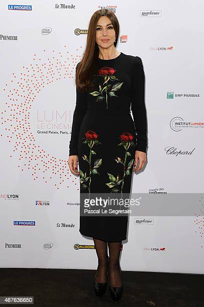 Monica Bellucci attends The Lumiere Le Cinema Invente exhibition preview on March 26 2015 in Paris France
