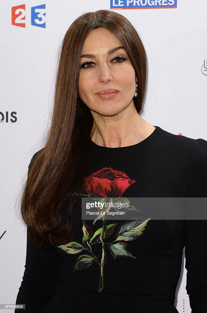 Monica Bellucci attends The Lumiere Le Cinema Invente exhibition preview on March 26 2015 in Paris France