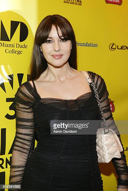 Monica Bellucci attends the MIFF 2016 'VilleMarie' screening at Olympia Theater At Gusman Hall on March 8 2016 in Miami Florida