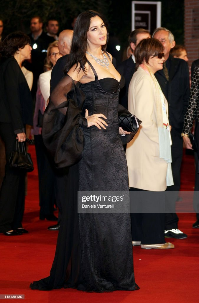 Monica Bellucci attends the opening night and premiere of the movies 'Le Deuxieme Souffle' and 'Anna Magnani La Lupa Romana' at the Auditorium on Day...
