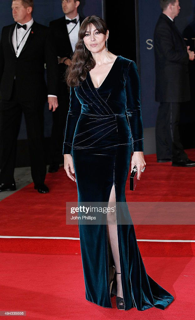 Monica Bellucci attends the Royal Film Performance of 'Spectre'at Royal Albert Hall on October 26 2015 in London England