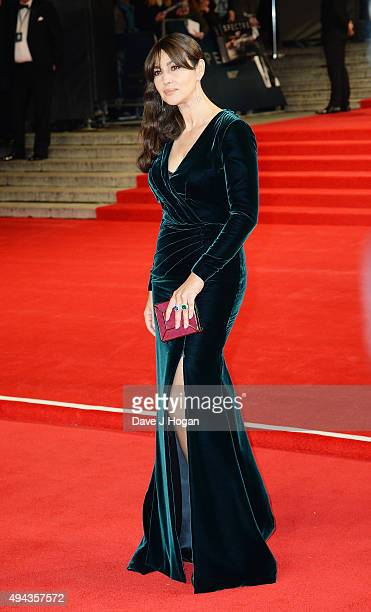 Monica Bellucci attends the Royal World Premiere of 'Spectre' at Royal Albert Hall on October 26 2015 in London England