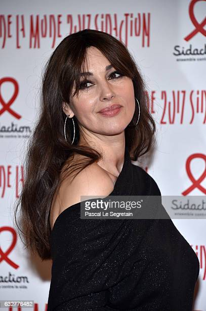 Monica Bellucci attends the Sidaction Gala Dinner 2017 Haute Couture Spring Summer 2017 show as part of Paris Fashion Week on January 26 2017 in...