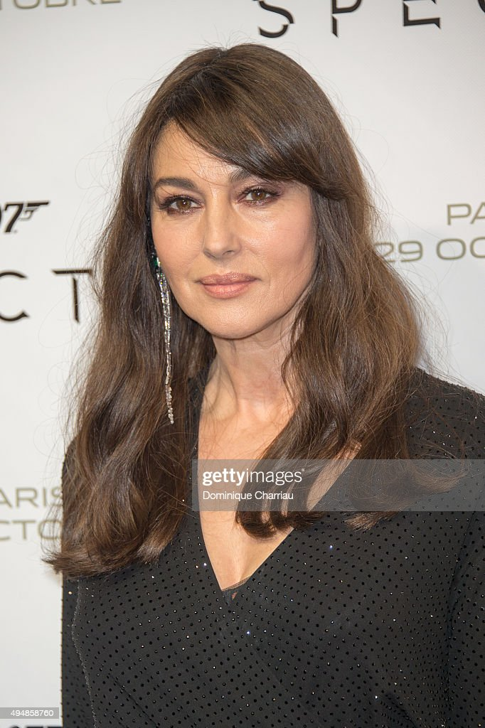 <a gi-track='captionPersonalityLinkClicked' href=/galleries/search?phrase=Monica+Bellucci&family=editorial&specificpeople=204777 ng-click='$event.stopPropagation()'>Monica Bellucci</a> attends the 'Spectre' Paris Premiere at Le Grand Rex on October 29, 2015 in Paris, France.