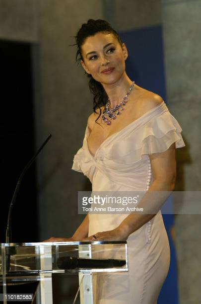 Monica Bellucci during 2003 Cannes Film Festival Closing Ceremony Show at Palais des Festivals in Cannes France