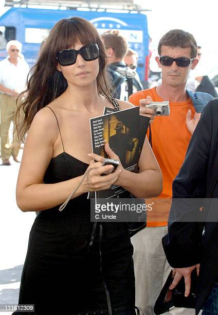 Monica Bellucci during 2006 Cannes Film Festival Sightings Day 1 at Hotel Martinez in Cannes France