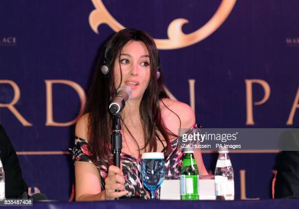 Monica Bellucci during a press conference ahead of the opening party of the Mardan Palace hotel in Antalya Turkey