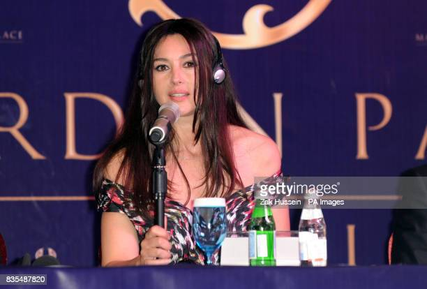 Monica Bellucci during a press conference ahead of the opening party of the Mardan Palace hotel in Antalya Turkey PRESS ASSOCIATION Photo Picture...