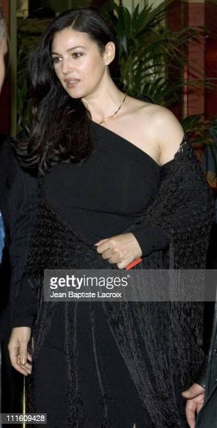 Monica Bellucci during Monica Bellucci Departs from the Presentation of Her Wax Figure at the Grevin Museum in Paris April 25 2005 at Grevin Museum...
