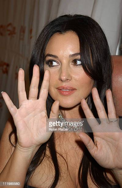 Monica Bellucci during Spike TV Presents 2003 GQ Men of the Year Awards Arrivals at The Regent Wall Street in New York City New York United States