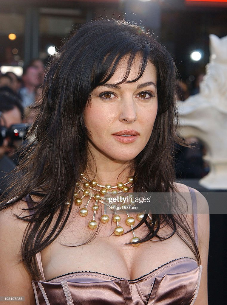 <a gi-track='captionPersonalityLinkClicked' href=/galleries/search?phrase=Monica+Bellucci&family=editorial&specificpeople=204777 ng-click='$event.stopPropagation()'>Monica Bellucci</a> during 'The Matrix Reloaded' Premiere at Mann Village Theatre in Westwood, California, United States.