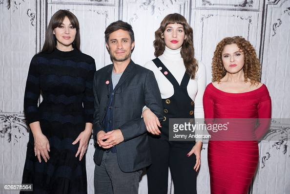 Monica Bellucci Gael Garcia Bernal Lola Kirke and Bernadette Peters attend AOL Build Series at AOL HQ on November 29 2016 in New York City