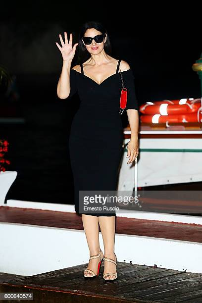 Monica Bellucci is arrived at darsena of the Hotel Excelsior during the 73rd Venice Film Festival on September 8 2016 in Venice Italy