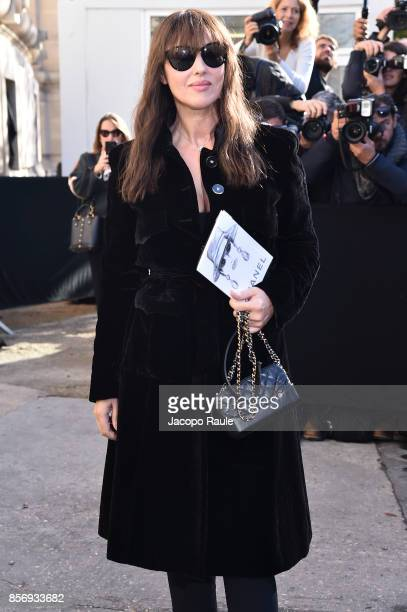 Monica Bellucci is seen arriving at Chanel show during Paris Fashion Week Womenswear Spring/Summer 2018on October 3 2017 in Paris France