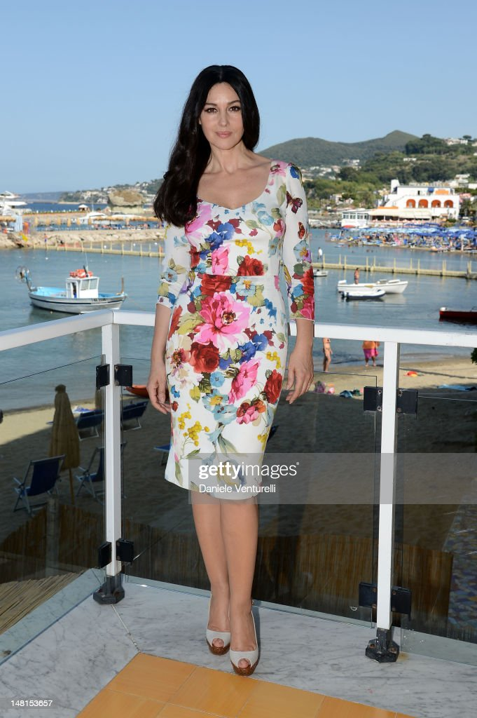 <a gi-track='captionPersonalityLinkClicked' href=/galleries/search?phrase=Monica+Bellucci&family=editorial&specificpeople=204777 ng-click='$event.stopPropagation()'>Monica Bellucci</a> is seen at the Ischia Global Fest 2012 on July 11, 2012 in Ischia, Italy.