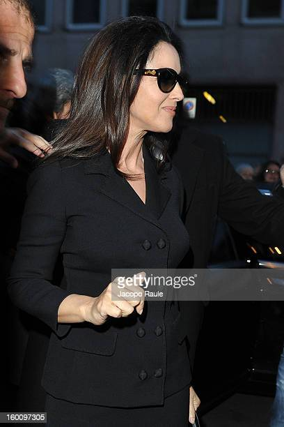 Monica Bellucci is seen on January 26 2013 in Milan Italy
